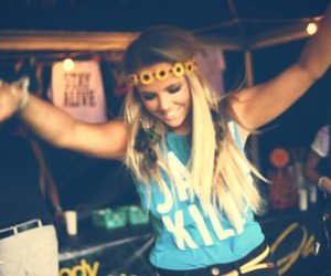 girl, blonde, and party image