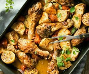 Chicken, food, and lemon image