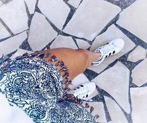 fashion, adidas, and blue image