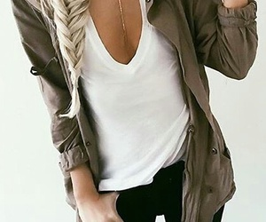 brunette, fashion, and clothes image