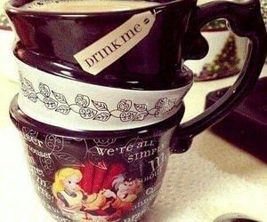 cup, alice, and alice in wonderland image