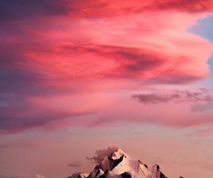 mountain and pink image