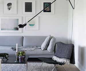 art, living room, and black image