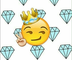 diamond, emoji, and king image