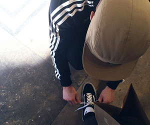 love, couple, and adidas image