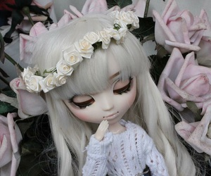 beautiful, doll, and pink image