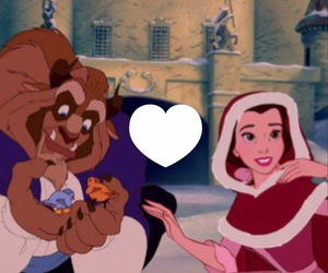 beauty, belle, and cartoon image