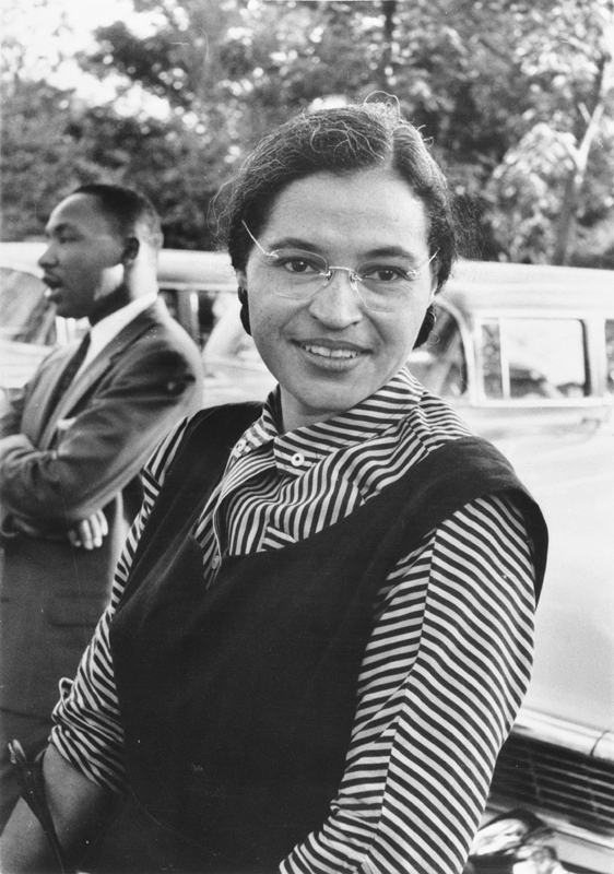 rosa parks and martin luther king image