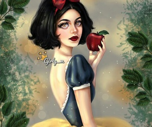 girly_m, snow white, and drawing image