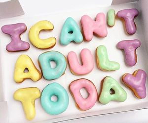 donuts, food, and Adult image