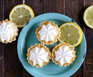 dessert, food, and lemon cream pie bites image