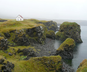 nature, house, and iceland image