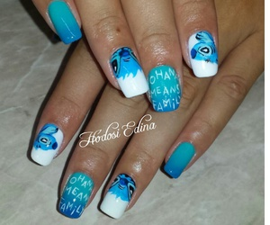 nail, nails, and lilo and stitch image