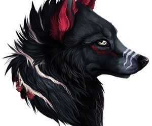 black, wolf, and animal image