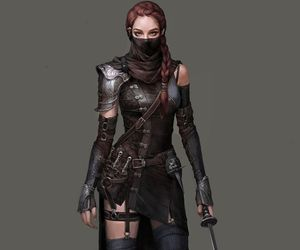 assassin, girl, and bad ass image