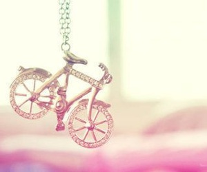 bike, necklace, and bicycle image