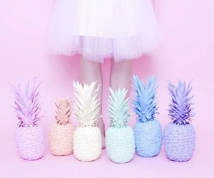 pastel, pineapple, and pink image