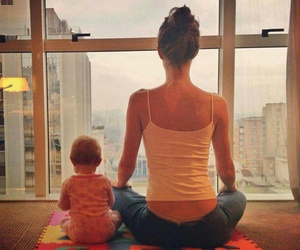 baby, cute, and yoga image