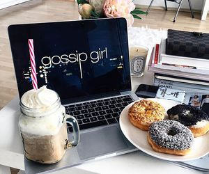 coffee, food, and gossip girl image