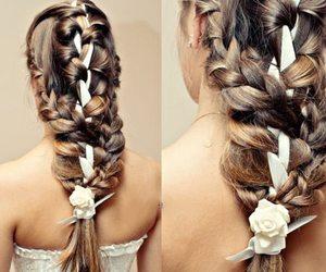 braid, brunette, and fashion image