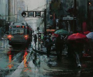 art, city, and draw image
