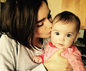 lily collins, baby, and Kevin Zegers image