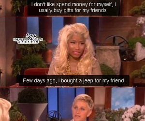 funny, ellen, and nicki minaj image