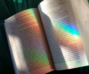 rainbow, book, and beautiful image