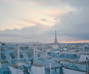 paris, city, and blue image
