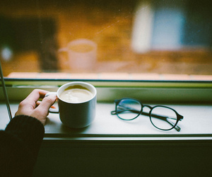 coffee, vintage, and glasses image