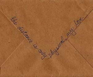 love, distance, and Letter image