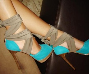 pretty, shoes, and turquoise image