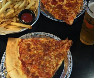 food, pizza, and vintage image