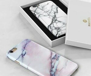 iphone, case, and marble image
