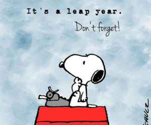 snoopy, peanuts, and leap year image