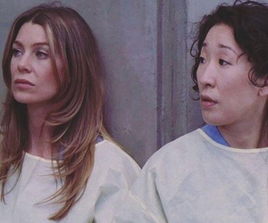ellen pompeo, meredith grey, and sandra oh image