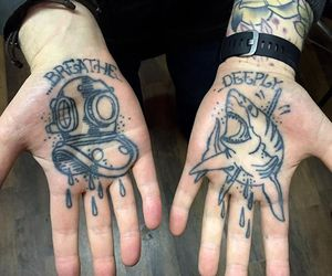 boy, tattoo, and hands image