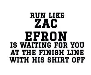 zac efron, run, and motivation image