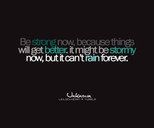 quote, rain, and text image