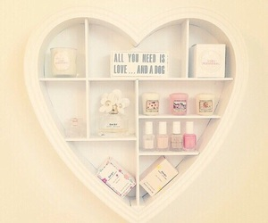 heart, room, and decor image