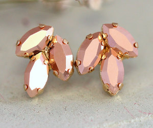bridal, bridal jewelry, and earrings image