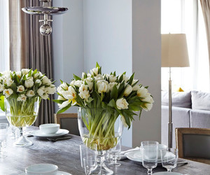 interior, flowers, and table image