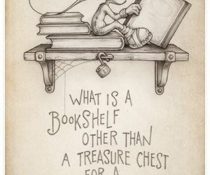 book, bookshelf, and quotes image
