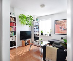 bookcases, interior design, and living room image