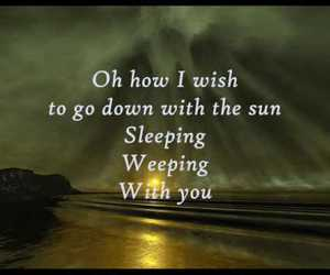 Lyrics, nightwish, and sleeping sun image