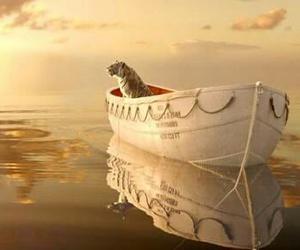 Life of Pi, tiger, and boat image