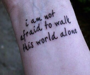 tattoo, quotes, and alone image