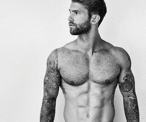 abs, alternative, and beard image