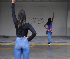 black girl, black power, and classy image