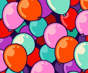 background, balloons, and colors image